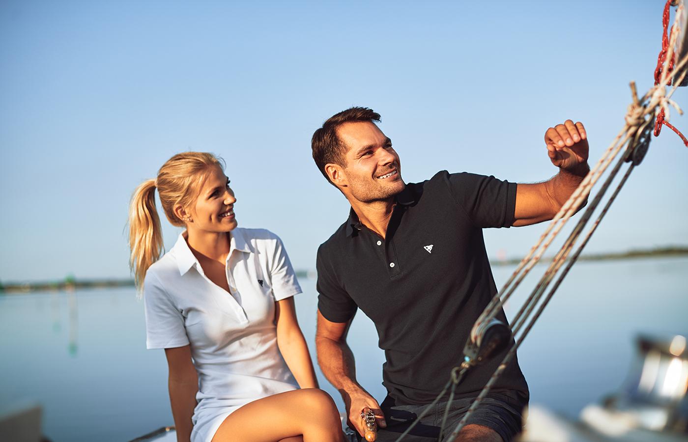 Seasonsail evening couple sailing polo